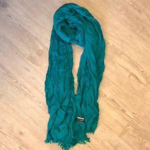 J Crew aquamarine scarf